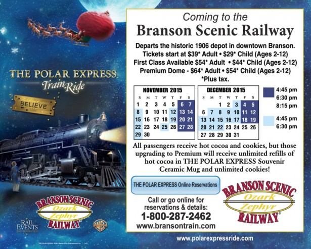 The Polar Express Returns To Branson For 2015 Season