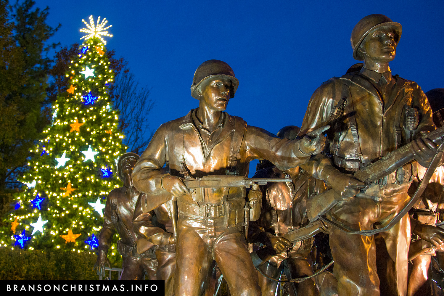 New Christmas tree honors military service veterans and families ...
